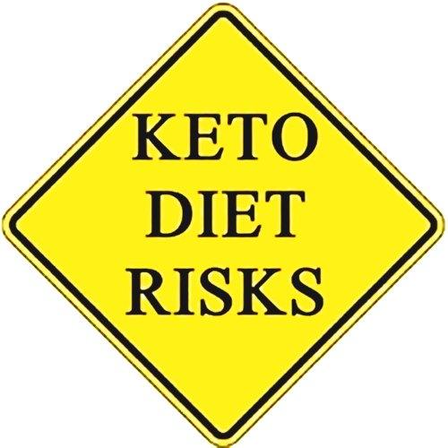yellow traffic sign saying keto diet risks