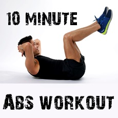man doing an abs workoug