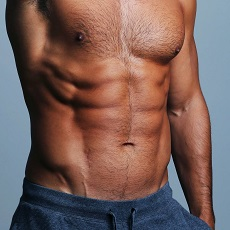 toned six-pack male abdomen