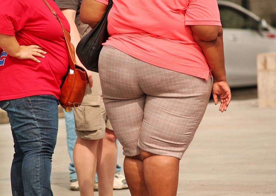 two overweight women view of rear and thick waist