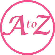 "the word ""A to Z"" in pink letters"