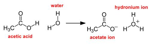 how acetic acid decomposes in water a chemical formula