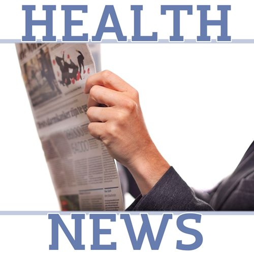 person holding a newspaper and the words Health News