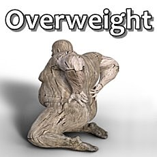 image of obese person with back ache