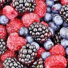 blueberries and raspberries natural source of vitamins