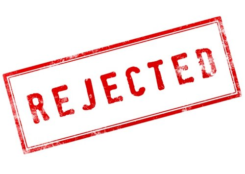 rubber stamp: Rejected